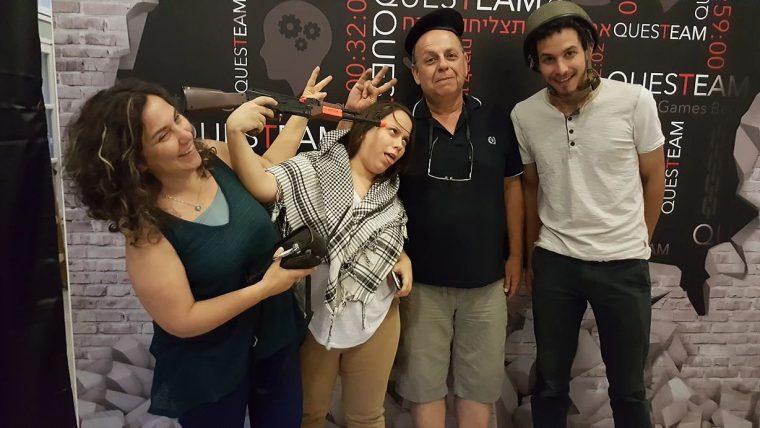 משפחה שהצליחה לברוח מחדר בריחה